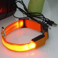 Wholesale Charging Dog Collar LED Adjustable Outdoor Luminous LED light USB Pets Dog Collars service dog vest