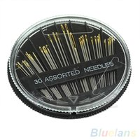 Wholesale 30Pcs Assorted Hand Sewing Needles Quilt Embroidery Mending Craft Sew Case MFA