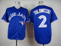Wholesale Newest Blue Jays Troy Tulowitzki Baseball Jersey Hottest Men s Sports Jerseys Brand Baseball Shirts Cheap Stitched Outdoor Jersey