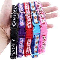 Wholesale New Pet Supplies Colorful Floral Printed Nylon Puppy Cat Adjustable Dog Neck Collar Collars Harness