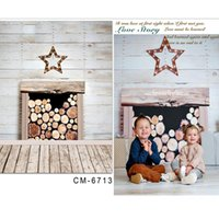 baby shots - photography backdrop baby Fireplace Christmas Star for a photo shoot x7ft x220cm
