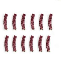 Wholesale 30pcs mm Light Purple Curved Rhinestone Pave Tube Shamballa Beads for DIY Bracelet DH BJA031