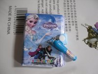 Wholesale SKFJ6 Snow Romance Aisha Anna plastic holster notebook notebook with pen suit FROZEN plastic holster notebook with pen