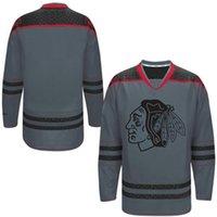 Wholesale Blank Hockey Jerseys Blackhawks Team Hockey Uniforms Cross Check Premier Jersey Storm Charcoal Ice Hockey Jerseys Fashion Team Uniforms