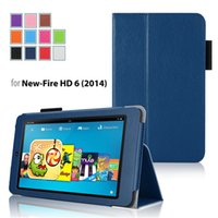 kindle fire hd - 2015 New Fashion For New Kindle Fire HD Inch PU Leather Case Cover Stand with Card Hoder Pu Soft Slim Flip