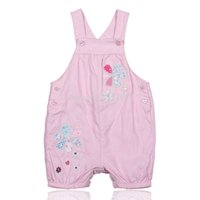 Wholesale Sun O brand dungarees jeans with braces for girls denim overalls for children pants suspend kids cartoon costume pink yellow