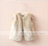baby bow outwears - Baby Girls Faux Fur Warm Vests New Hot Sale Girl Autumn Winter Fur Waistcoat Kids Clothing Children Outwear Babies Clothes Years