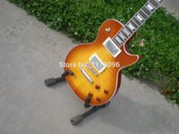 Wholesale lp guitar maple flame top electric guitar guitarra guitar in china
