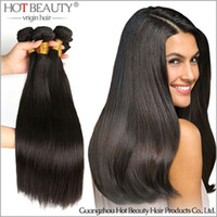 Wholesale cheap hair extensions Brazilian Indian Peruvian Malaysian Virgin Hair Straight remy human Hair Extensions brazilian hair bundles
