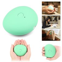 Wholesale Lucky Stone USB Rechargeable Hand Warmer Creative Lovely Warm Hands Hot Treasure With mAh Power Bank For Phones Charging