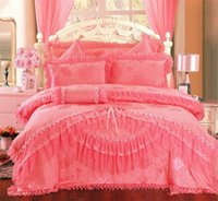 Cheap 4pc 5pc 6pc 8pc 9pc wedding bedding set queen new arrival king size bedding lace edge bedspread bed sheet
