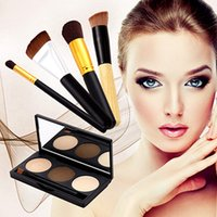 artificial skins - 3 Colors Eyebrow Powder Artificial Fiber Makeup Brushes Cosmetics Eyebrow Dye Shadow Eyebrows Shadows