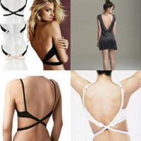backless bra converter - Adjustable Converter Low Back Backless Bra Strap Adapter Extender Hook Women s sexy Intimates Accessories BLACK NUDE WHITE drop shipping