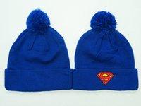 dc hats - Dc Comics Superman Pom Pom Beanies Hat Popular Men s Women s Winter Beanie Hats Skull Caps Warm Winter Wool Caps