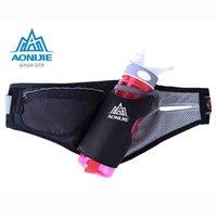 Wholesale 2016 AONIJIE Running Free Running Accessories Fanny Pack Men Women Waist Packs Running Accessories Waterproof Nylon Bag black