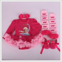 Cheap Children's Clothes Sets Frozen Princess Ball gown Tutu dress BABY Girl Birthday Gift 2015 New year Designers Custome For Newborn 0-12months