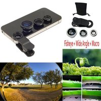 Cheap 3 in 1 Universal Clip on Fish Eye Macro Wide Angle Mobile Phone Lens Camera kit For iPhone 6 5S 4 for samsung for HTC for LG