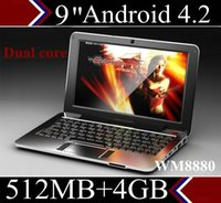 Wholesale DHL quot inch Netbook Android CPU G VIA Dual Core HDMI WIFI M RAM G HDD Mini Laptop notebook XB09