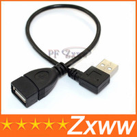 Wholesale Right Angle Degree USB A Male to Female M F Extension Cable Cord cm HZ