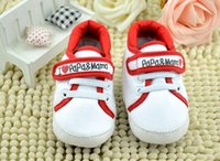 baby love walker - 2015 Fashion Baby Infant I Love Papa Mama Soft sole Crib Walking Shoes Casual First Walker Shoes pieces