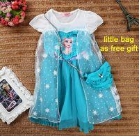Cheap 2015 Summer Elsa dress Toddler Baby Girl Dress For Girls Kids Clothes Party Princess Dress Children Clothing Birthday Dresses