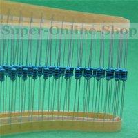 Metal film resistor Baratos-500pcs 470 Ohm 1 / 4W resistor +/- 1% ROHS 1 / 4w anillo de color 470R ohmios Resistencias de película metálica / 0,25 W vatios resistencia de película de carbón