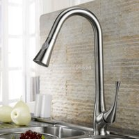 bar sink brushes - Brushed nickel Swivel Pull out Spray Kitchen Bar Sink Faucet mixer tap free ship