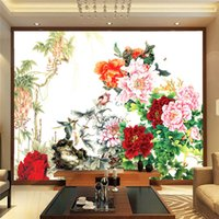 art house wallpaper - Flower bird painting Photo Wallpaper Chinese style Wall Mural D Personality wallpaper Kids Bedroom Living room decor Art Home Decoration