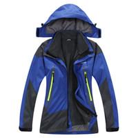 wholesale sports jackets - 2016 Kids Winter Windbreaker Outdoor in1 Jacket Waterproof Windproof Ski Snowboard Sports Coat Fleece Lined Hooded Clothing Years