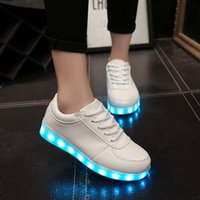 Wholesale Unisex Colorful Gowing Shoes with Lights Up Led Luminous Shoes A New Simulation Sole Led Shoes for Adults Neon Basket Led