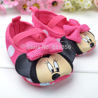 baby doll shoes - New Pink Cute Doll Baby Girl Shoes Dot Mouse Sweet Mary Jane Cartoon Prewalker Anti skid Soft Bottom First Walkers