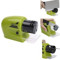 Wholesale Multi function Knife Sharpening Tool Practical Electric Grinding Sharpener Tool Pastic Swifty Sharp Use batterytHome kitchen Accessory Green
