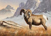 Cheap Animals antelope mountains landscape canvas painting portrait modern decoration art frameless mural prints free shipping