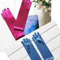 Wholesale new Frozen Gloves Elsa Girl s Gloves for Evening Dress Ornaments Children Girls Cosplay frozen Anna Gloves Kids Accessories