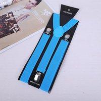 Wholesale Men Womens Clip on Suspenders Elastic Y Shape Adjustable Braces Solids Colors elastic suspenders braces