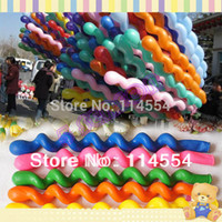 Wholesale New Fashion Pack Giant Rubber Helium Spiral Latex Balloons Wedding Birthday Party Decoration Ballons b9