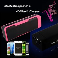 speaker for mobile phone - Waterproof Outdoor Subwoofers J6 in Speaker Wireless Bluetooth With Built in Mic TF Card Slot Power Bank Charger For Mobile Phone PC