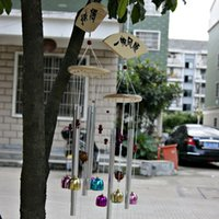 aluminum wind chime - the word blessing Campanula small bell aluminum wood crafts gift Wind chimes gifts Christmas gifts Handmade