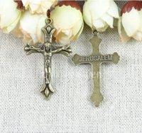 accessories crucifixes - RYQY41 MM DIY Jerusalem jesus charm crucifix charms mobile phone accessories jewelry cross charms ZAKKA bronze fitti