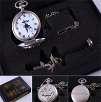 Wholesale Fullmentle Alchemist Pocket Watch Necklace Ring Edward Elric Anime cosplay Gift