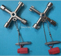 Wholesale 4 Way Utility Plumbing Plumbers Key Tool For Meter Box Gas Water Electric Service Tool Stop Cock Tap Radiators Cupboards Key