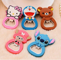 Wholesale whole Sale New Christmas gift cartoon skid lid bottle can opener chicks openers cartoon Multifunctional Bottle opener LJJD581