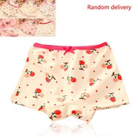 Wholesale hot selling Girl Kids Child Cute Floral Pattern Design Underwear Cotton boxer cute children panties