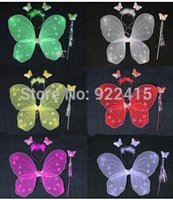 Wholesale Birthday party Decoration butterfly wing set wing headband fairy wand Angel wing Party accessories colours