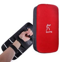 Wholesale Excellent quality Full faux leatherboxing pads Thai Kick Boxing Strike Curve Pads Arm Punch MMA For Boxing Taekwondo Foot Target