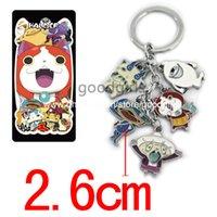 Wholesale Anime Yo Kai Watch Metal Keychains Stainless Steel Keychain Pendants ANPD1805