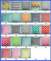 chevron print - Cushion case Chevron wave Printed Cushion Cases fashion Mediterranean style Pillow Covers Home Textiles Décor colors gift