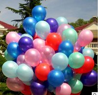 Wholesale High Quality g quot Latex Round Air Balloons For Birthday Party Wedding Christams assorted Color