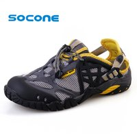 aqua beach shoes - Socone Mens Aqua Water Shoes Beach Sandals New Summer Shoes Men Fashion Sport Sneakers Breathable Leather Shoes Outdoor