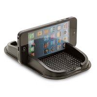 Wholesale Phone PU carrying boxes mat Smartphone GPS Dashboard Grip Mount Holder Retail Packaging